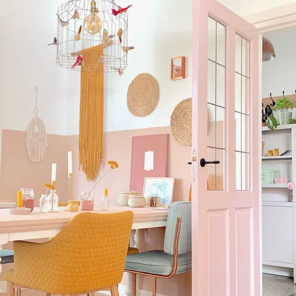 Pink And Ochre Home Decoration