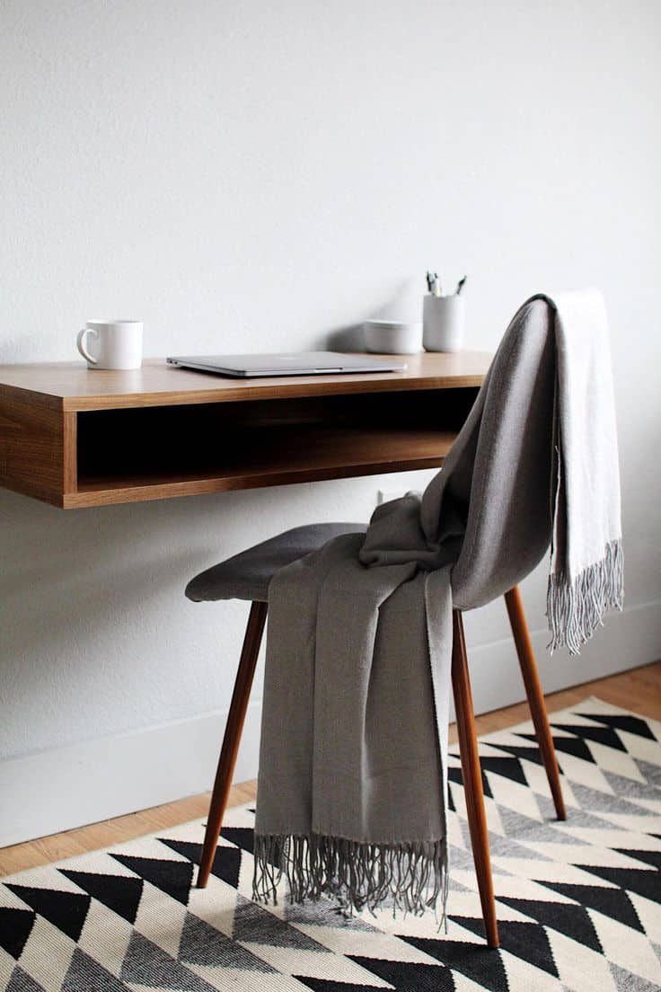 Simple Floating Wall Mounted Desk