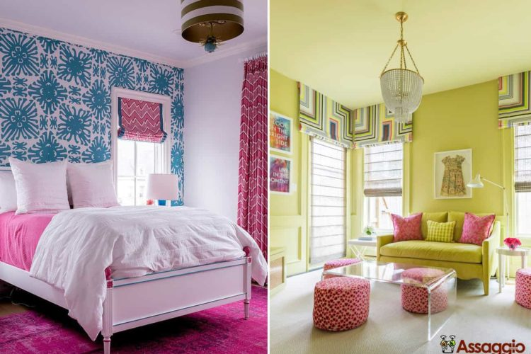 best home decorating colors that go with pink