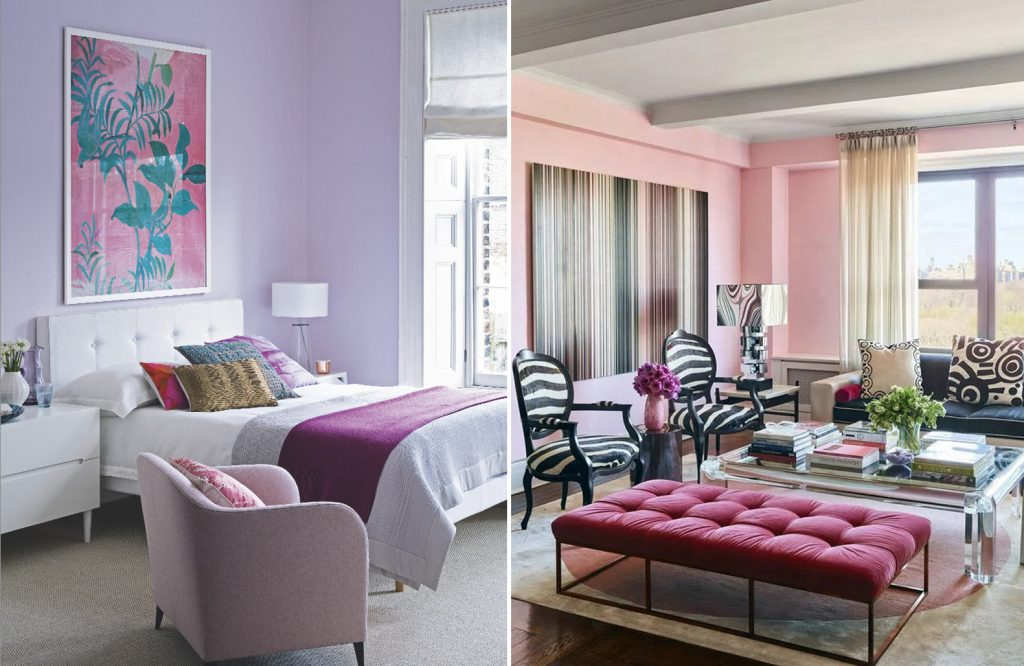 decorating colors that go with purple