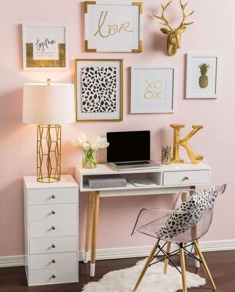 Floating Wall Mounted Desk With Storage