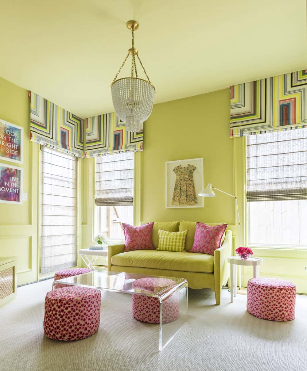 Pink And Citron Yellow Decoration