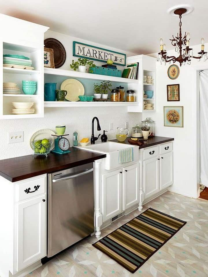 Simple Kitchen With Touch Of Classic