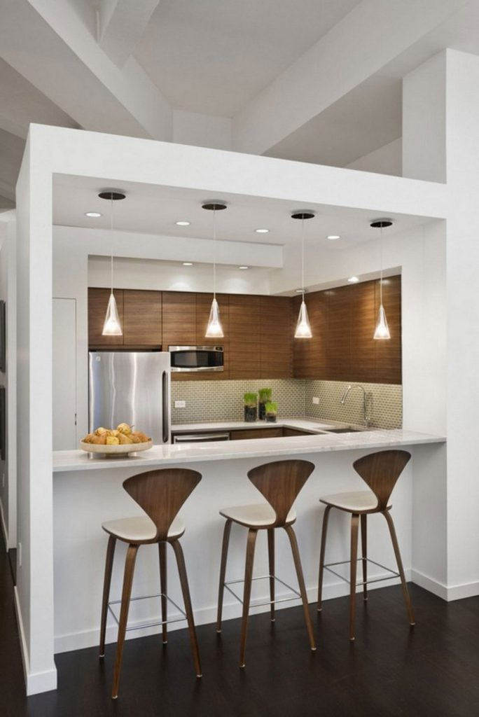 Efficient, Small And Simple Kitchen Design
