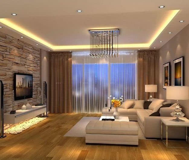 A Gold Living Room Setting